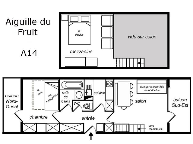 plan appartement mezzanine